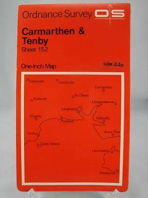OLD ORDNANCE SURVEY MAP CARMARTHEN /& TOWY ESTUARY /& PLAN CARMARTHEN 1909 S 229