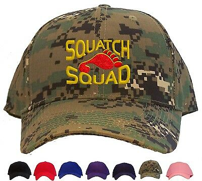 Squatch Squad Baseball Cap - Available in 7 Colors - Hat sasquatch bigfoot