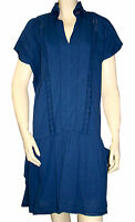 Robe Chasuble Bleu Indigo I.code By Ikks Femme Dress Taille 38