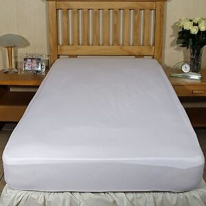 official photos df543 e3f2c Details about Luxury fitted breathable waterproof brushed cotton mattress  protector Single bed