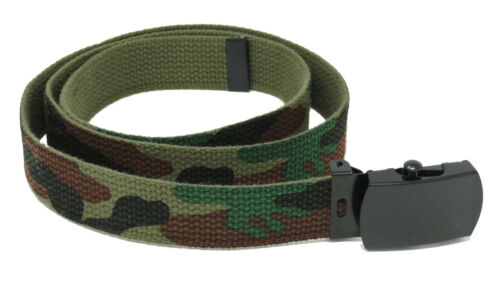 Boys Girls Childrens Olive Green Camouflage Kids Reversible Camo Army Belt