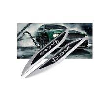 1pair LEXUS Blade Auto Car Trunk Side Sticker Emblem Badge Decal Accessories
