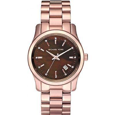 Michael Kors Uhr MK5445 RUNWAY Damenuhr Edelstahl Rosegold Armbanduhr mit Datum   eBay