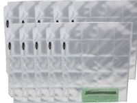 10 Bcw Pro Poly 20 Pocket 3 Ring Binder Pages For 2x2 Coin Flips Or Photo Slides