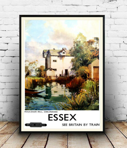 Essex Reproduction. ,Wall art Old Travel advertising poster