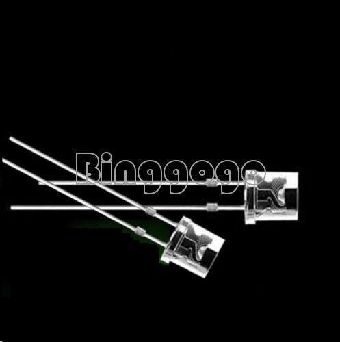50PCS 5MM 2Pin Flat Top Green LED Wide Angle Flat Head Light Lamp