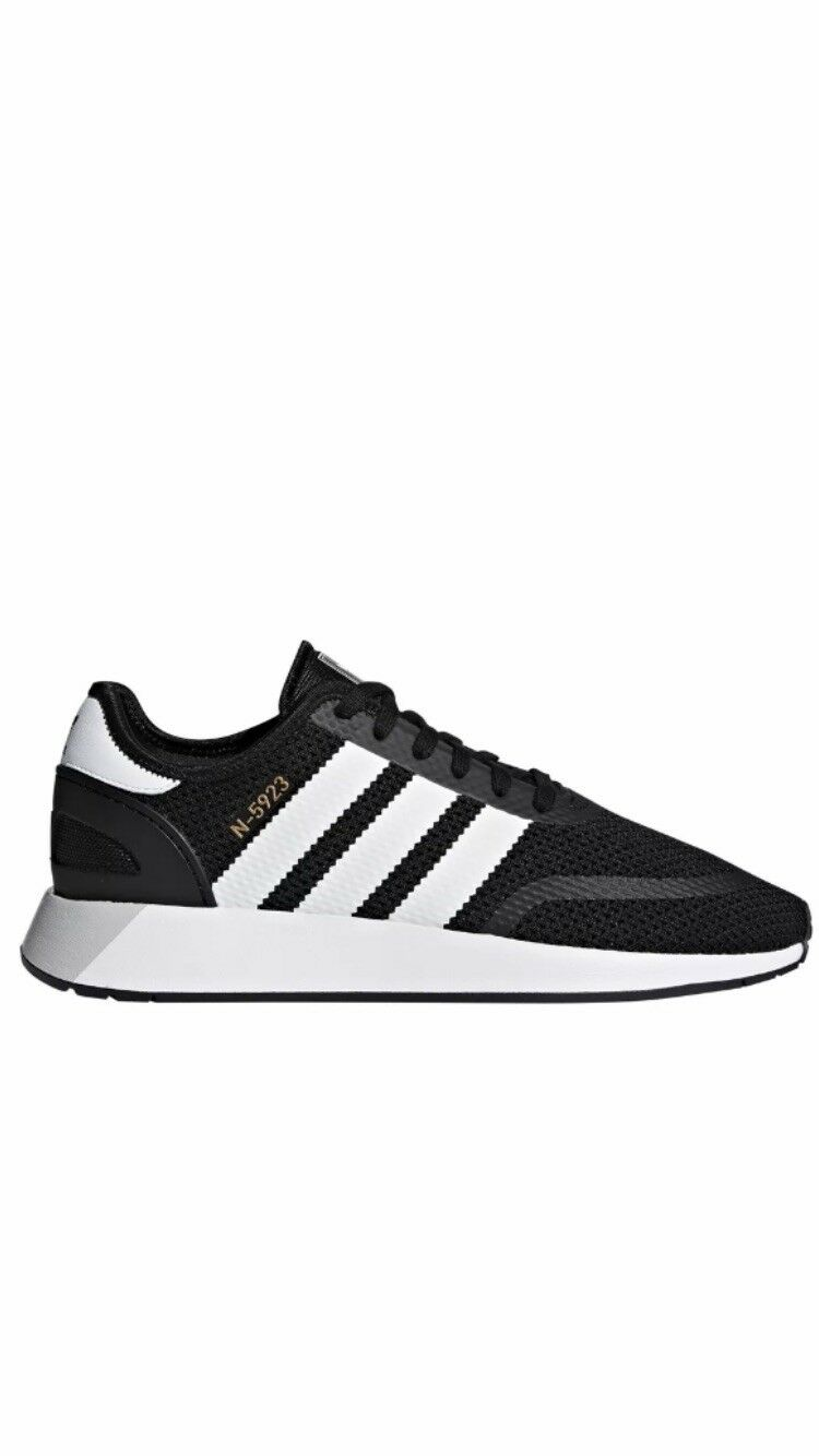 NEW ADIDAS ORIGINALS RUNNING SHOES BLACK  N 5923 SIZE 12  FREE SHIPPING!
