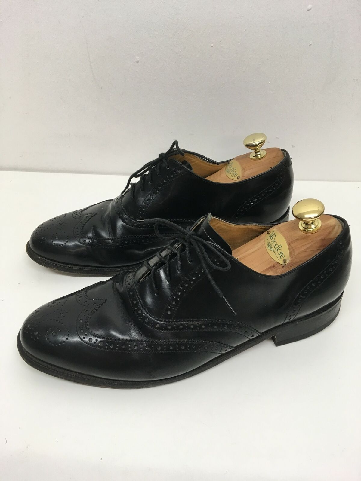 MENS BARKER schwarz LEATHER LACE LACE LACE UP BROGUES SMART FORMAL WORK schuhe UK 8  813b9f
