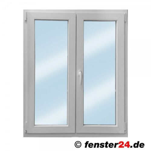 Zweiflügeliges VEKA Kunststofffenster in weiß, Breite 2200mm x wählbare Höhe D
