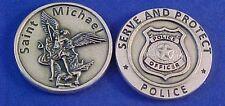 Archangel St Michael Pocket Token SERVE and PROTECT Badge Saint Medal POLICE