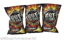 """HOT HEADZ HABANERO INFERNO CHIPS"" 3 x 57g bags - Hot Chilli Crisps"