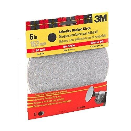 3M 9183DC-NA 6-Inch Medium Grit Adhesive Backed Sanding Disc