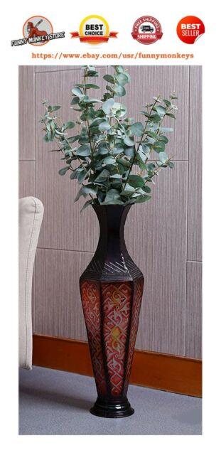 Large Decorative Capiz Petal Mosaic Design Vase Black 62cm For Sale Online Ebay