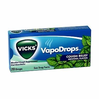 Vicks VapoDrops Cough Relief Drops Menthol Flavor 20 Each [case of 20]