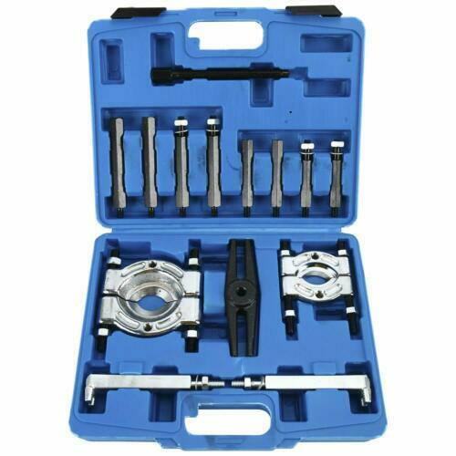 """14Pcs Bearing Separator Puller Removal Set 2/"""" and 3/"""" Splitters Heavy Duty"""