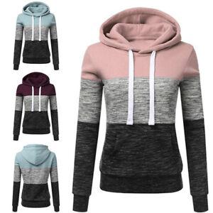 New-Women-Ladies-Spring-Fall-Hooded-Sweatshirt-Sweat-Sportswear-Tops-Coat-Casual