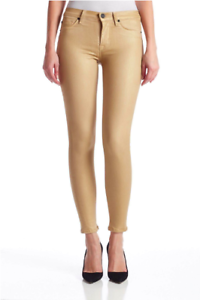 Hudson Mystic gold Midrise Nico Super Skinny Jeans Size 26