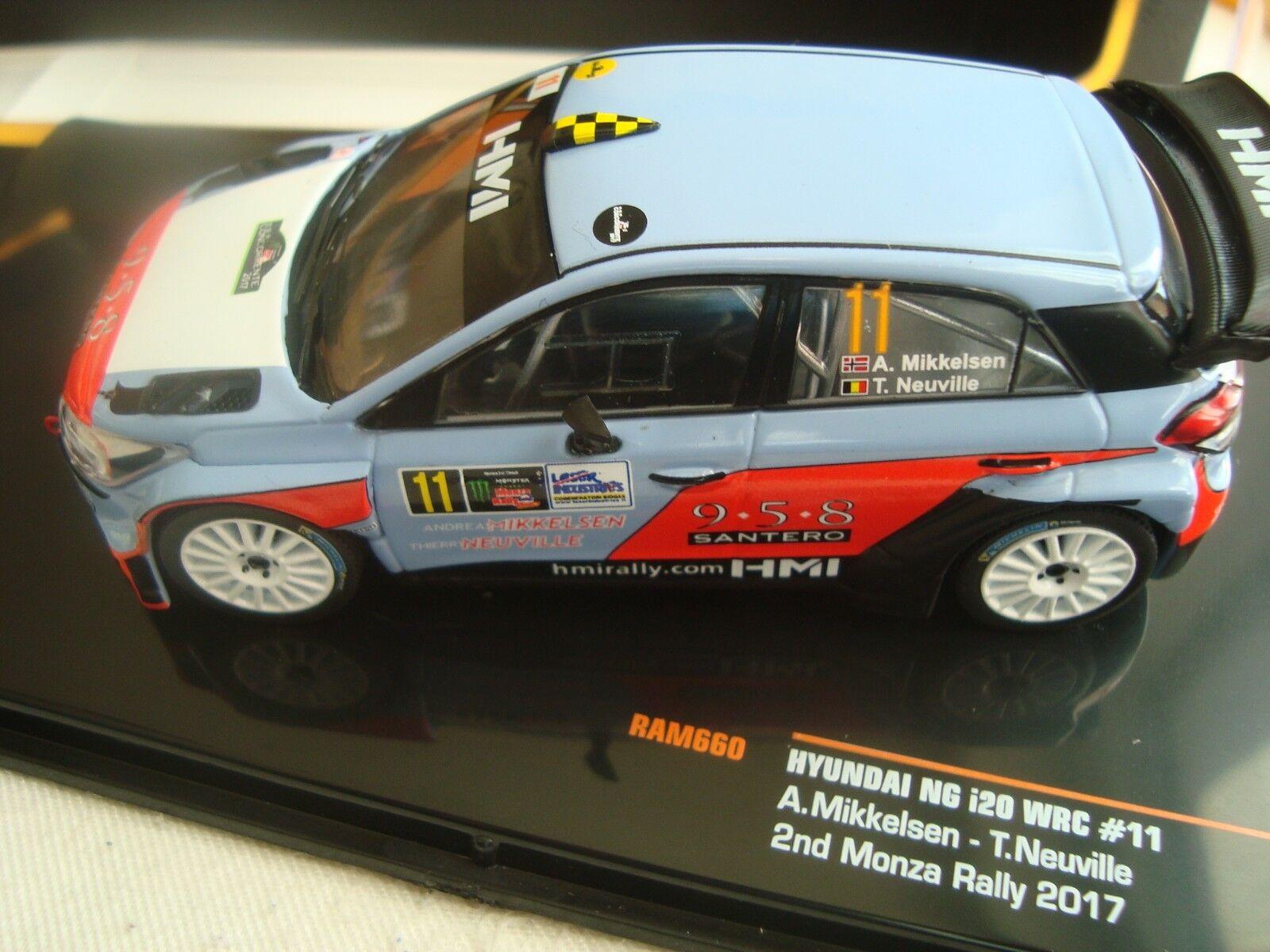 MINIATURE HYUNDAI NG 120 RAM WRC MONZA 2017 MIKKELSEN NEUVILLE  IXO RAM 120 660 1/43 8fcd3d