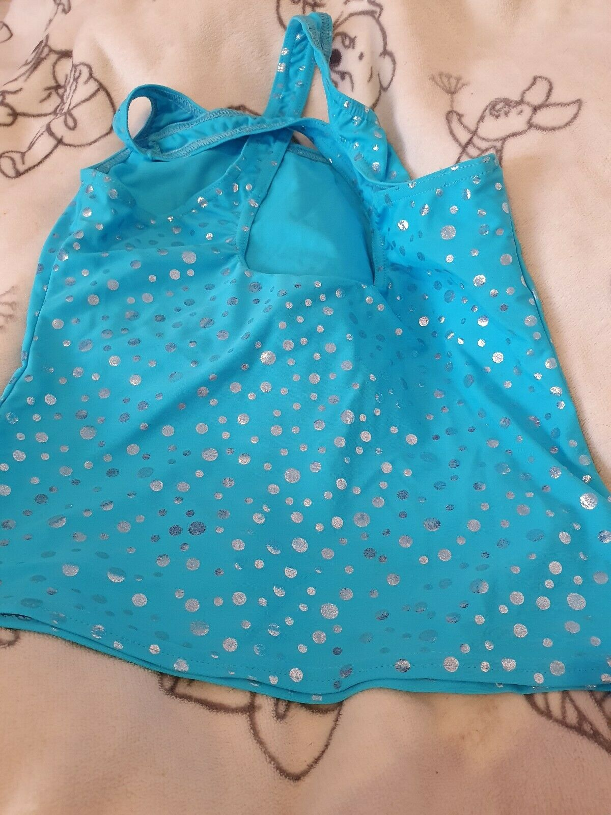 *Lovely Girls Starlite Dance Top Size 3a Age 11-12 Years*🙂