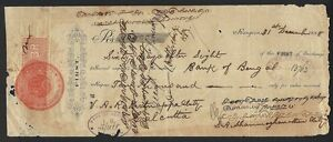Burma 1887 Bill of Exchange with India QV 1867 Special Adhesive 3R