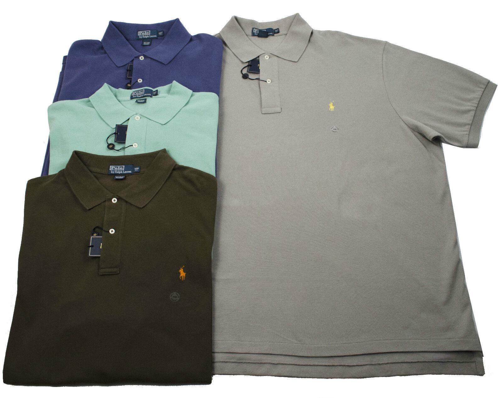 87397dd35 4XLT POLO RALPH LAUREN MESH BIG TALL MEN S SHORT SLEEVE PONY GREEN SHIRTS  3XB nejdlw1881-Casual Shirts   Tops