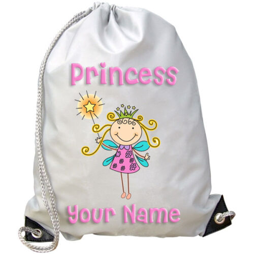 PRINCESS FAIRY PERSONALISED GYM SWIMMING PE DANCE BAG GREAT GIFT & NAMED