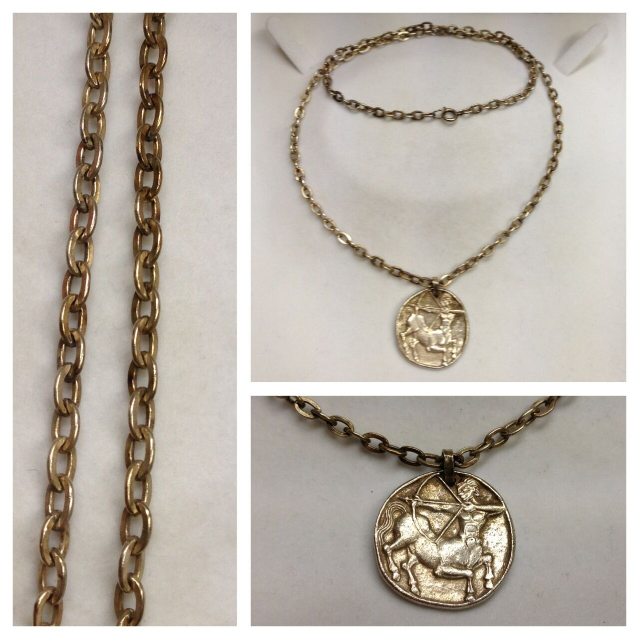 Style ancien collier 800 EN silver CHAÎNE pendentif CENTAUR
