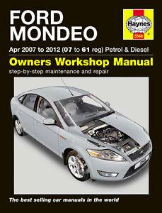 haynes workshop repair owners manual ford mondeo petrol diesel 07 rh ebay co uk 2004 Ford Mondeo 2007 ford fiesta zetec owners manual