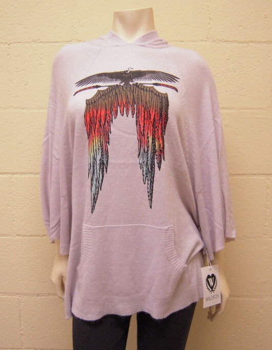 NEW WILDFOX Couture Light Feather Pancho Sweater (M)