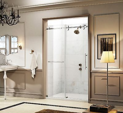 "ART OF BATH OREON 57-60/"" x 66/"" FRAMELESS SLIDING BATHTUB DOOR 3//8/"" GLASS"