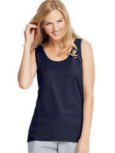 Hanes Womens Scoop Neck Tank Top Size S-XL 9002 BUY TWO GET THIRD ONE FREE