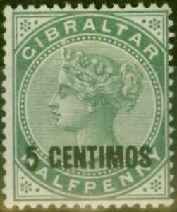 Gibraltar-1889-5c-sur-1-2d-Vert-SG15-Fin-Legerement-MTD-Excellent-Etat