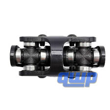 New Double Black Steering U Joint 5/8-36 SPLINE X 3/4 ROUND SMOOTH WELD ON