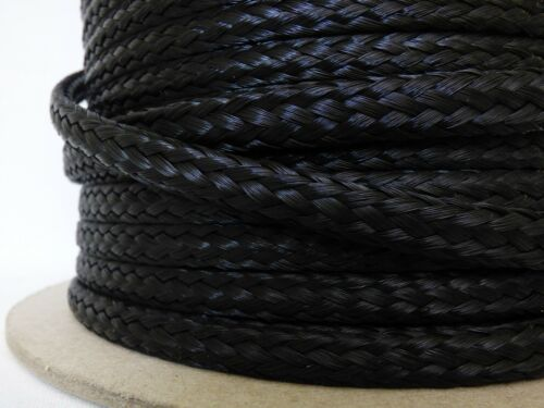 """Made in USA. Details about  /1//2 /"""" x 85 ft Hollow Braid Polypropylene Rope.Black"""