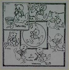 Kitten Chores 3982 Aunt Martha/'s Hot Iron Embroidery Transfer Pattern