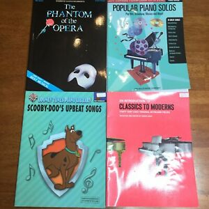 Details about Piano Music Book Lot Phantom Opera, Scooby Doo, Classic,  Modern, Broadway, Movie