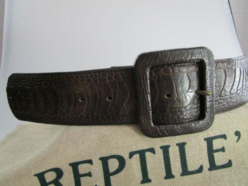 Original Reptile/'s House Gürtel Strauss neu dunkelbraun original Schliesse RHL