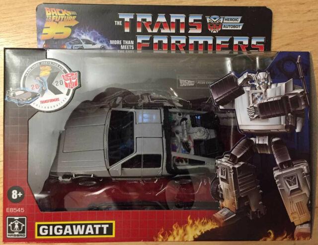 Transformers Back to the Future 35th Anniversary Gigawatt Delorean NEW