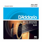 D'Addario EJ11 Acoustic 80/20 Bronze Guitar Strings Light