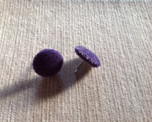 30L//17mm Nail Back Lupin Chenille Velvet Fabric Covered Upholstery Buttons