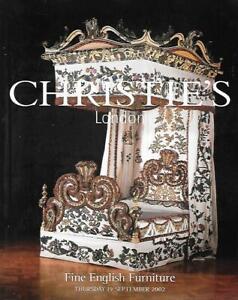 Christie S Fine English Furniture London Auction Catalog September 2002 Ebay