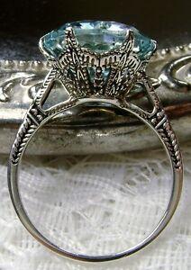 5ct-Aquamarine-Sterling-Silver-Edwardian-c-1910-Filigree-Ring-Made-To-Order