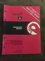 John Deere 320 Snow Thrower Operator's Manual