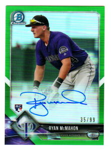 2018-Bowman-Chrome-GREEN-REFRACTOR-AUTOGRAPH-RYAN-McMAHON-35-99-On-Card-AUTO