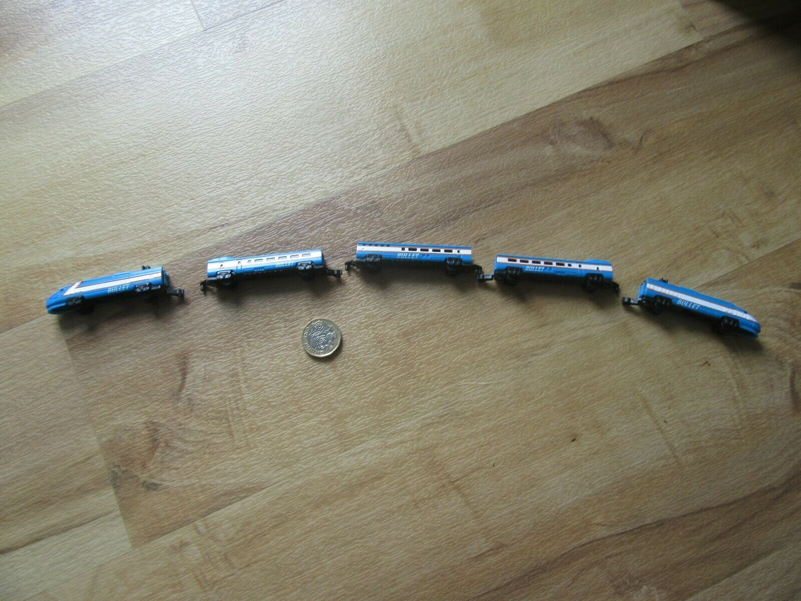 SUPER RARE LOT MICRO MA NES blu HIGH SPEED BULLET TRAIN RAREST OF tutti TRAIN