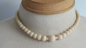 16-034-VINTAGE-WHITE-ANGEL-SKIN-CORAL-GRADUATED-SINGLE-STRAND-BEAD-NECKLACE-3-16-1-2