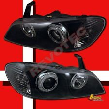 Dual Halo Angel Eyes Black Projector Headlights For 2000-2004 Infiniti I30 I35