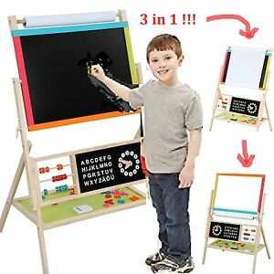 Kids Wooden 3 In 1 Fun Drawing Writing