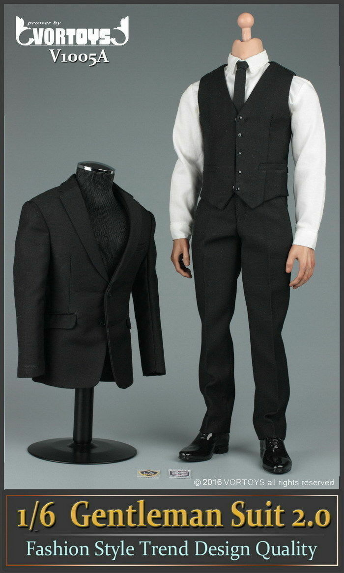 VORTOYS 1 6 6 6 Male Suit Clothes Set Coat & Shirt & Pants & shoes F 12  Figure Body 0edff4