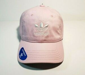 Adidas-womens-Original-Relaxed-Strapback-Hat-Cap-Pink-White-Adjustable-Fit-New